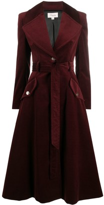 Temperley London Velvet Flared Coat
