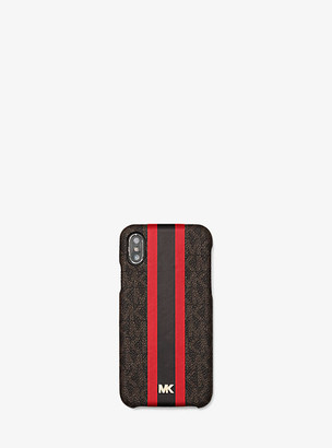 Michael Kors Logo Stripe Phone Cover for iPhone X/XS