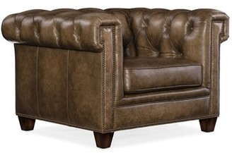 """Hooker Furniture Chester 41"""" W Tufted Chesterfield Chair"""