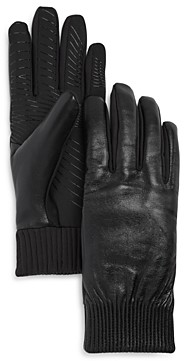 URBAN RESEARCH U/R Elasticized Faux Fur-Lined Tech Gloves