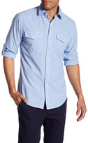 James Campbell Salvage Long Sleeve Regular Fit Woven Shirt