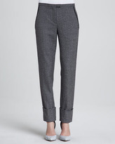 Theory Indra Patterned Wool Pants