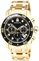 Invicta Men's 72 Pro Diver Collection Chronograph 18K -Plated Watch, Black