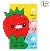 Tony Moly [TONYMOLY] Seedless Strawberry Seeds 3-step Nose Pack 6g (1. 5 Set)