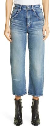 Saint Laurent '70s Crop Straight Leg Jeans