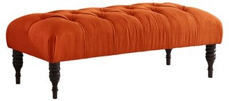 Skyline Furniture Audrey Tufted Upholstered Bench