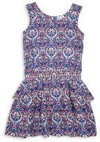 Splendid Girl's Printed Tiered Drop Waist Dress