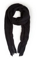 Akris Punto Lace-Trim Knit Scarf, Black