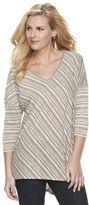 Dana Buchman Women's Striped Drop-Shoulder Top
