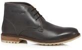 Hush Puppies Black Leather 'benson Rigby' Chukka Boots