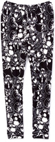 Beary Basics Black & White Skulls Leggings - Toddler & Girls