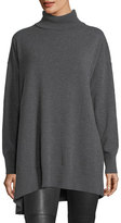 Lafayette 148 New York Relaxed Asymmetric Cashmere Turtleneck Sweater