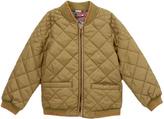Olive Drab Reversible Puffer Jacket - Girls