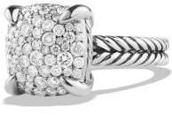 David Yurman Chatelaine® Ring With Diamonds, 14Mm