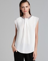 Rebecca Taylor Blouse - Silk Pleated Front Combo