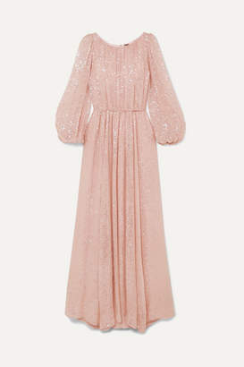 ADAM by Adam Lippes Sequined Chiffon Gown - Pastel pink
