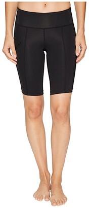 2XU Mid-Rise Compression Short (Black/Dotted Black Logo) Women's Shorts