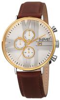 August Steiner Multifunction White Dial Watch