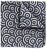 Charles Tyrwhitt Blue and White English Circle End-On-End Luxury Silk Pocket Square