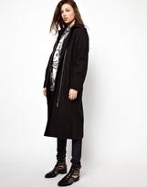 Cheap Monday Collar Coat - Black