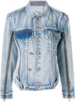 3.1 Phillip Lim zip sleeve denim jacket - women - Cotton - 4
