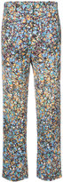 Victoria Beckham printed trousers - women - Cotton/Polyester/Viscose - 8
