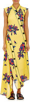 Proenza Schouler Women's Lily-Print Silk Asymmetric Dress