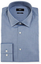 BOSS Box-Check Slim-Fit Dress Shirt, Blue