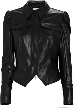 Jonathan Simkhai Standard Vegan Leather Puff Sleeve Jacket