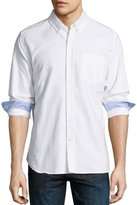 AG Jeans Long-Sleeve Cotton Oxford Shirt, White