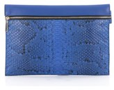 Victoria Beckham Pre-owned: Envelope Clutch Python And Leather.
