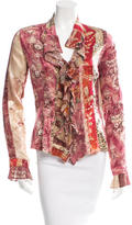 Roberto Cavalli Silk Ornate Print Blouse