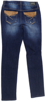 ZCO Dark Blue Distressed Contrast-Pocket Straight-Leg Jeans - Girls