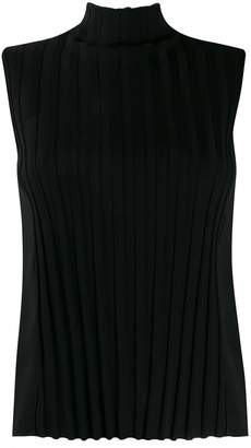 Vince Roll Neck Striped Tank Top