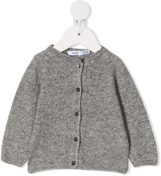 Knot Pointelle Knit Cardigan