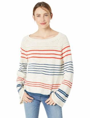 Cupcakes And Cashmere Women's alantis Stripe Boat Neck Raglan Sweater
