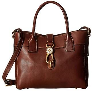 Dooney & Bourke Florentine Classic Amelie Tote (Chestnut/Self Trim) Tote Handbags