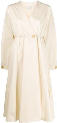 Forte Forte long-sleeve flared midi dress