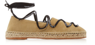Off-White Lace-Up Suede Espadrilles