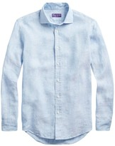 Ralph Lauren Purple Label Aston Linen Button-Front Shirt