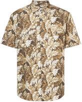 Julien David leaf print shirt