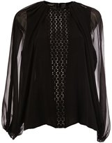 Giambattista Valli see-through long sleeves blouse