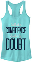 Chin Up Apparel Women's Tank Tops CANCUN - Cancun 'Inhale Cofidence Exhale Doubt' Slim-Fit Racerback Tank - Women