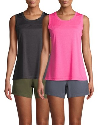 Athletic Works Women's Athleisure Heathered Yoke Tank (2-Pack)