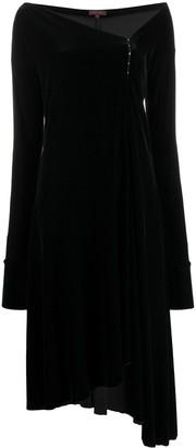 Romeo Gigli Pre Owned 1990s Velvet Effect Asymmetric Hem Dress