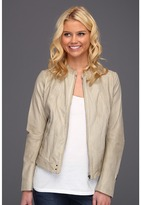 G Star G-Star - Fai Leather Jacket (Resort Leather Dirty White) - Apparel
