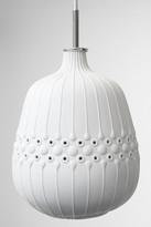 Jonathan Adler White Relief Drip Ceramic Pendant