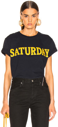 Alberta Ferretti Saturday Tee in Navy | FWRD