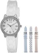 GUESS Women's U0784L1 Feminine Interchangeable Wardrobe Watch Set