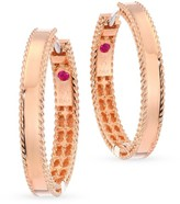 Roberto Coin 18K Rose-Gold Hoop Earrings
